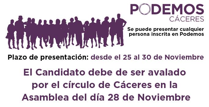 Secretaría General y Consejo Ciudadano en Podemos Cáceres