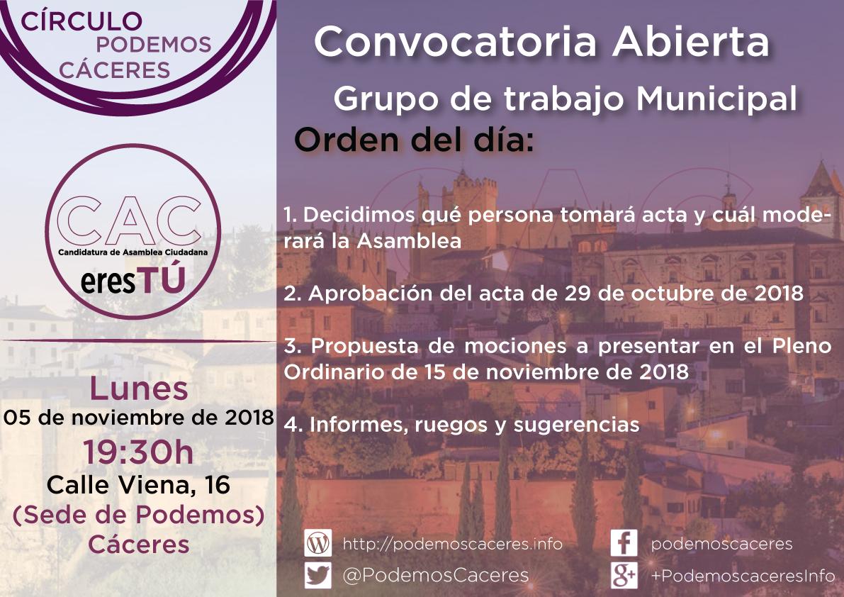 Asamblea 5 de noviembre de 2018