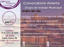 Asamblea de 14 de enero de 2019